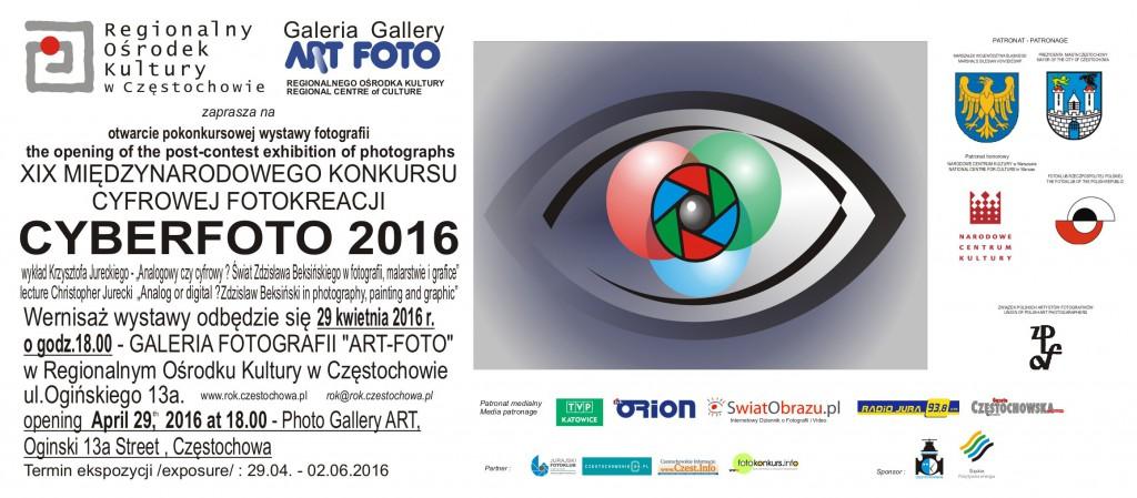 Zaproszenie na otwarcie wystawy CYBERFOTO 2016